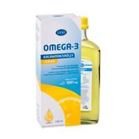 Рыбий жир жидкий Омега-3 с лимоном витаминами A D E 240 мл LYSI