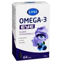 Витамины для глаз LYSI Омега-3 EYE с черникой 64 капсулы LYSI