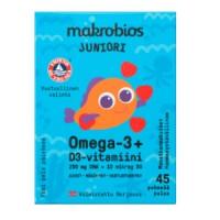Рыбий жир для детей Juniori Omega-3 + D3 45 капсул Makrobios
