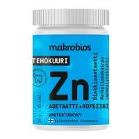 Витамины с цинком Makrobios Sinkkiasetaatti+Kofeiini 30 таблеток Makrobios