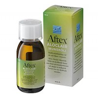 Жидкость для полоскания и заживления ран, язв во рту Aftex ALOCLAIR MUNSKOLI 120 ML Meda OTC