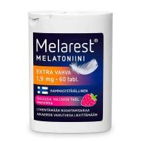 Снотворное со вкусом клубники MELAREST MELATONIINI EXTRA VAHVA Mansikka 1,9 MG  60 таблеток Orion