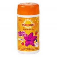 Мультивитаминный комплек с ягодами для детей Minisun JUNIOR жевательные таблетка 100 шт Minisun