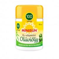 Витамин Д3 в капсулах с оливковым маслом Minisun D3-vitamiini Oliiviöljy 100 µg 100 шт Minisun