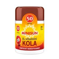 Витамин Д со вкусом колы Minisun Kola D3-vitamiini 50 µg жевательные таблетка 200 шт Minisun