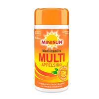 Мультивитаминный комплек Minisun Monivitamiini Multi Appelsiini 90 жевательных таблеток Minisun