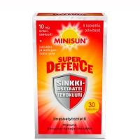 Витамины с цинком супер защита Minisun SUPER DEFENCE SINKKIASETAATTI TABL 30 шт Minisun