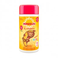 Витамин Д для детей обезьяна с бананом JUNIOR 10 мкг жевательные таблетка 100 шт Minisun