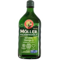 Рыбий жир Омега-3 Moller Omega-3 250 мл (зеленый) Moller