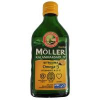 Рыбий жир Омега-3 с лимоном Moller Omega-3 250 мл (желтый) Moller
