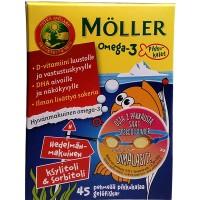 Витамины Меллер Омега-3 для детей Moller Omega-3 Pikkukalat 45 капсул Moller