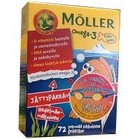 Витамины Меллер Омега-3 для детей Moller Omega-3 Pikkukalat 72 капсулы Moller