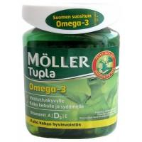 Витамины Омега-3, D и A, E Moller Tupla Omega-3 100 капсул Moller