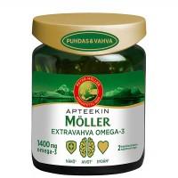 Витамины рыбий жир APTEEKIN MÖLLER EXTRAVAHVA OMEGA-3 76 капсул Moller