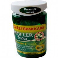 Витамины Омега-3, D и A, E Moller Tupla Omega-3 150 капсул Moller