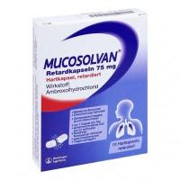 Капсулы Лазолван от кашля MUCOSOLVAN Retardkapseln 75 mg 10 шт MUCOSOLVAN