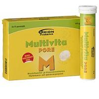 Витамин Multivita PORE MONIVITAMIINI поливитамины быстрорастворимые таблетки 3 X 15 шт. MultiVita
