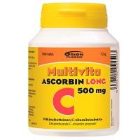 Витамин С MULTIVITA ASCORBIN LONG 500MG 100 таблеток MultiVita
