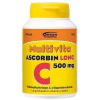 Витамин С MULTIVITA ASCORBIN LONG 500MG 200 таблеток MultiVita