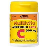 Витамин С MULTIVITA ASCORBIN LONG 500MG 50 таблеток MultiVita