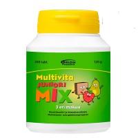 Витамин Multivita JUNIOR MIX витамины и минералы жевательные таблетки 200 шт. MultiVita