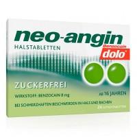 Препарат от боли в горле без сахара NEO ANGIN Benzocaine dolo Pill Free Sugar 24 шт NEO ANGIN