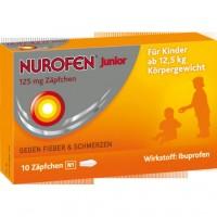 Свечи от лихорадки для детей 125 мг Junior 125 mg Zäpfchen 10 шт Nurofen