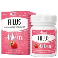 Жевательные таблетки с молочнокислыми бактериями FIILUS ARKEEN MANSIKKA PURUTABL 30 шт Orion