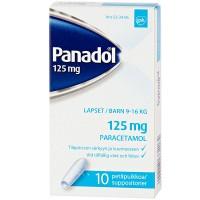 Свечи жаропонижающие PANADOL 125 мг 10 шт. GlaxoSmithKline