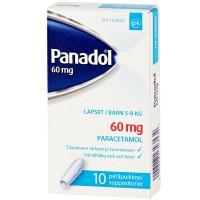 Свечи жаропонижающие PANADOL 60 мг 10 шт. GlaxoSmithKline