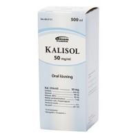 Раствор хлористого калия KALISOL 50 мг / мл 500 мл Orion