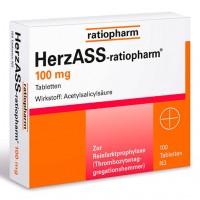 Ацетилсалициловая кислота HERZASS-ratiopharm 100 mg Tabletten 100 таблеток RatioPharm