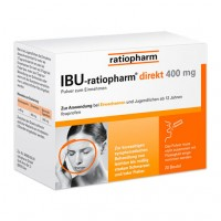 Порошок болеутоляющий IBU-RATIOPHARM direkt 400 mg Pulver zum Einnehmen 20 шт RatioPharm