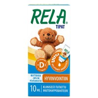 Капли с молочно кислыми бактериями с Д3 для детей Reladrops с витамином D3(желтый) 10 мл Rela