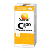 Витамин C-vitamiini vahva 500 mg 180 таблеток Sana-Sol