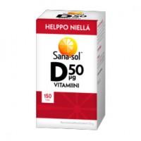 Витамин Д Helppo Niella D-vitamiini 50 µg 150 таблеток Sana-Sol