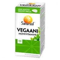 Мультивитаминный комплекс для веганов Vegaani Monivitamiini 150 таблеток Sana-Sol