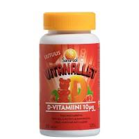 Витамин Д для подростков SANA-SOL VITANALLET D-VITAMIINI 10 MIKROG MANSIKKA VADELMA 60 таблеток Sana-Sol