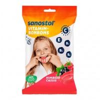 Витаминные конфеты со вкусом малины SANOSTOL Vitamin-Bonbons Himbeer-Cassis 75 гр Sanostol