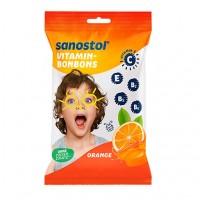 Витаминные конфеты со вкусом апельсина SANOSTOL Vitamin-Bonbons Orange 75 гр Sanostol