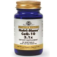 Витамин с коэнзимом Q-10 в капсулах Solgar Nutri-Nano CoQ10 3.1x 50 шт Solgar