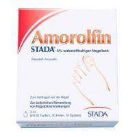 Лак для борьбы с грибком ногтей AMOROLFIN STADA 5% wirkstoffhaltiger Nagellack 3 мл Stada