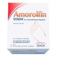 Лак для борьбы с грибком ногтей AMOROLFIN STADA 5% wirkstoffhaltiger Nagellack 5 мл Stada