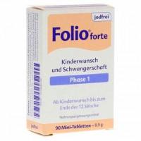 Витамины для беременных до 12 мнедели без йода FOLIO 1 forte jodfrei Filmtabletten 90 шт SteriPharm
