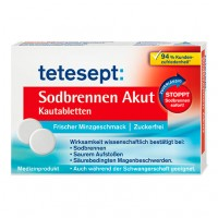 Таблетки от изжоги TETESEPT Sodbrennen Akut Kautabletten 20 шт telesept