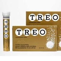 Шипучие таблетки от лихорадки и болей ацетилсалициловая кислота, кофеин  TREO PORETABLETTI 20 шт TREO