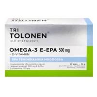 Витамины Омега-3 E-EPA 500 мг 70% EPA + 5 мкг (микрограммов) природного витамина D3 60 капсул Tri Tolosen