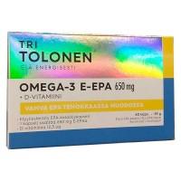 Витамины Омега-3 E-EPA 650 мг 90% EPA + 5 мкг (микрограммов) природного витамина D3 60 капсул Tri Tolosen