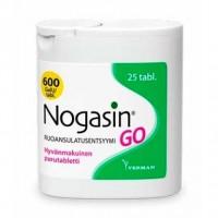 Препарат для лечения желудка и метеоризма NOGASIN GO PURUTABL 25 жевательные таблетки Verman