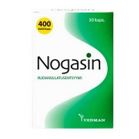 Препарат для лечения желудка и метеоризма NOGASIN KAPS 30 капсул Verman